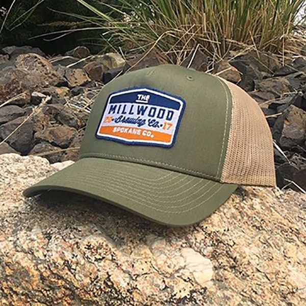 Olive Green Truckers Cap – Millwood Brewing Company 05e961567ce